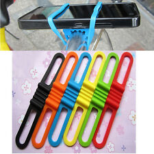 Bicycle Silicone Elastic Torch flashLight Phone Bind Strap Mount Holder to