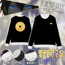 Noragami Anime Long Sleeve Adult Sweater Clothing T Shirt M-XXL Free Shipping