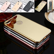 Shockproof Aluminum Metal Case Slim Clear Mirror Cover For iPhone 5 SE 6S 7 Plus