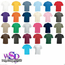 FRUIT OF THE LOOM men's plain blank Valueweight t-SHIRT top s-5XL NEW t-shirts