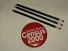 United States Census 2000 button badge and pencils