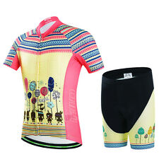 CSP28 Design Bicycle Bike Cycling Jersey Short Sleeves Set For Kids Boys Girls
