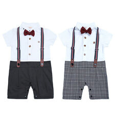 Baby Boy One Piece Gentleman One-piece Romper Jumpsuit Outfit Clothes Set 9-24M