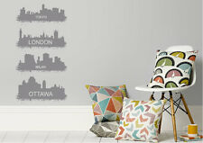 Cityscape Wall Stickers Four Major Cities Vinyl Decal 15 Colours 01807
