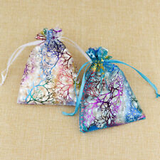 """4""""x6"""" Blue Coralline Organza Candy Bags Wedding Party Favor Gift Jewelry Pouch"""