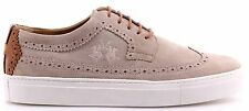 Men's Shoes Sneakers LA MARTINA L3010105 Camoscio Panna Suede Cream New