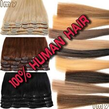 Big Sale Clip In Extensions FULL HEAD 100% Real Remy human hair Any Colour US II