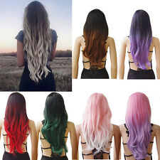 Fashion Women Full Wig Long Curly Wavy Hair Synthetic Daily Cosplay Party Wigs