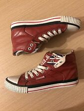BRITISH KNIGHTS Boys Womens Red Union Jack Lace Up Hi Top Trainers Boots. Size 6