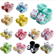 0-6 Months Cartoon Newborn Baby Girls Boys Anti-slip Socks Slipper Shoes Boots