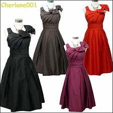 Cherlone Satin Prom Ball Party Cocktail Evening Ballgown Formal Bridesmaid Dress