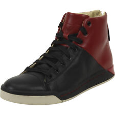 Diesel Men's S-Emerald Pompeian Red/Black High-Top Sneakers Shoes