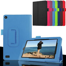 """Folded PU Leather Stand Case Cover For Amazon Kindle Fire 7"""" 5th"""