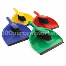 Plastic Dustpan and Brush Set Cleaning Sweeping Home Office Caravan Household