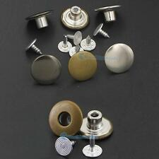 "17mm 5/8"" Jean Tack NO-SEW Button Snap Stud Rivet Look Inside Fine 20 50 100"