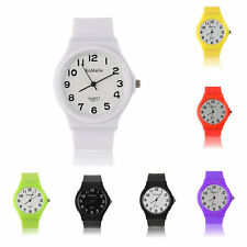 Mate Casual Fashion Silicone Jelly Rubber Gel Sports Classical Wrist Watch AK