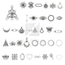 10-300pcs Lots Tibetan Silver Pendant Charm Links Connector Jewelry Findings