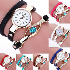 Women Fashion Quartz Ladies Stainless Steel Crystal Diamond Bracelet Wrist Watch