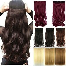 One Piece Long 100% Natural Clip In Hair Extensions Straight Curly As Human Hair