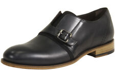 Bacco Bucci Men's Stassi Black Monk Strap Loafers Shoes