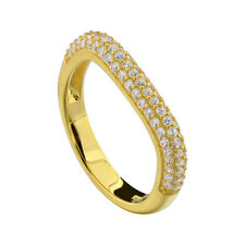 Gold Plated Sterling Silver Cubic Zirconia Women Jewelry Wedding Engagement Ring