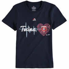 Minnesota Twins Majestic Girls Youth Heartbeat T-Shirt - Navy