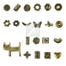 21style 20-1000pcs Lots Antique Brass Spacer Beads Metal for Jewelry Findings