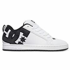 DC Shoes Court Graffik White Mens Skateboard Trainers