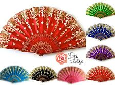 New Sparkly Glitter Spanish Flamenco Hand Fan Lots of Colours