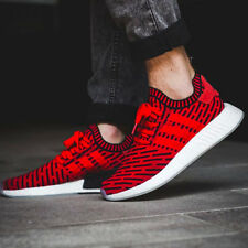 ADIDAS NMD R2 PRIMEKNIT RED BLACK *SHIP NOW* Sz 7-13 BOOST ULTRA PHARRELL BB2910