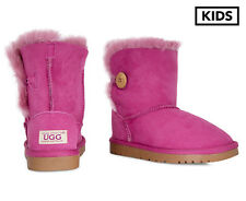 OZWEAR Connection Kids' Button Ugg Boots - Rose