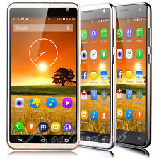 "Unlocked 5.5"" Touch Mobile Phone Android Quad Core Dual SIM 3G GPS Smartphone"