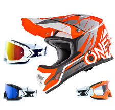 Oneal 3Series Helmet Freerider Fidlock orange grey TWO-X Racing Goggles