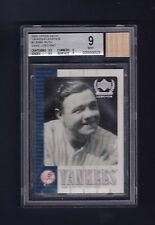 Babe Ruth Yankees 2000 Upper Deck Legends card w/ game used bat Beckett graded 9