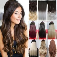 S-noilite One piece Clip in As Human Hair Extensions Straight Wavy Full Head Ty1