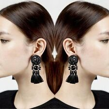 Fashion Bohemian Hook Earrings Women Vintage Long Tassel Fringe Dangle Jewelry