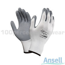 12x Pairs Ansell 11-800 HyFlex Foam Nitrile Coated Nylon Grip Work Safety Gloves