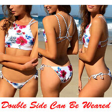 Sexy Women Push-up Bikini Set Side-Tie Bottom Beach Swimsuit Swimwear Bathing