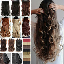One Piece Clip In Real Thick Hair Extensions Straight Curly Long Ombre Hair Fsh