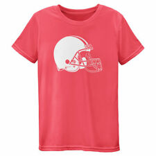 Cleveland Browns Outerstuff Youth Girls Neon Logo Performance  T-Shirt - Pink