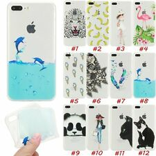 Fashion Soft TPU Transparent Cover Skin Case For Apple iPhone 5 5s 6 6s 7 Plus