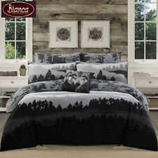 6 Pce Colorado Black White Quilt Cover + 2 Std P/cases + 2 Eurocases + Cushion