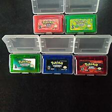 Boy Advance Pokemon Game Bundle FireRed Sapphire Leaf Green Ruby Emerald Game AA