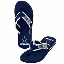 Dallas Cowboys Locker Label Contour Flip Flops - NFL