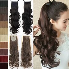 Lady Drawstring Cosplay Clip In Ponytail Hair Extension Wavy Synthetic Hairpiece