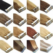 "2Days Delivery Tape in 100% Remy  Human Hair Extensions 16""18""20""22"" 20/60PCS AU"