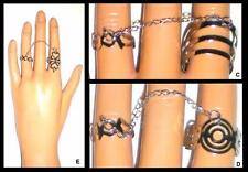 Fashion Double Two Fingers Chained Adjustable Silver Rings * U Pic