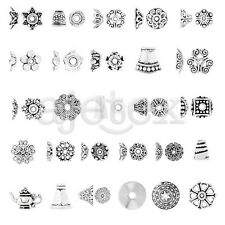 27 Style 10-1000pcs Tibetan Metal End Bead Jewelry Finding