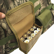 Outdoor Military Tactical Ammo Shell Bullet Case Airsoft Pouch Hunting Waist Bag