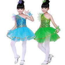 Kids Sequined Jazz Tap Dancewear Dress Kids Party Show Stage  Dance Costume